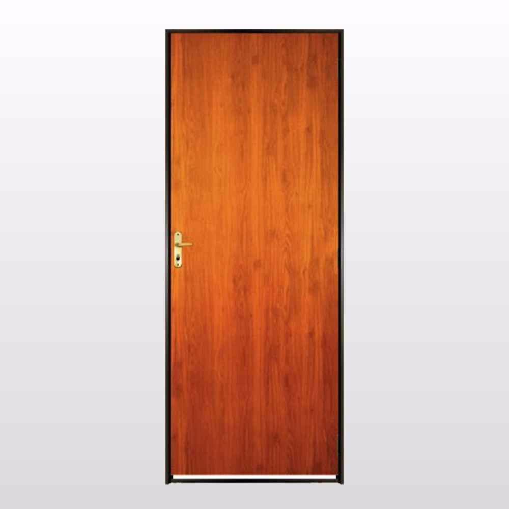 Porta madeira padr o mogno com portal de ferro 2 15 x 0 70 for Porta m
