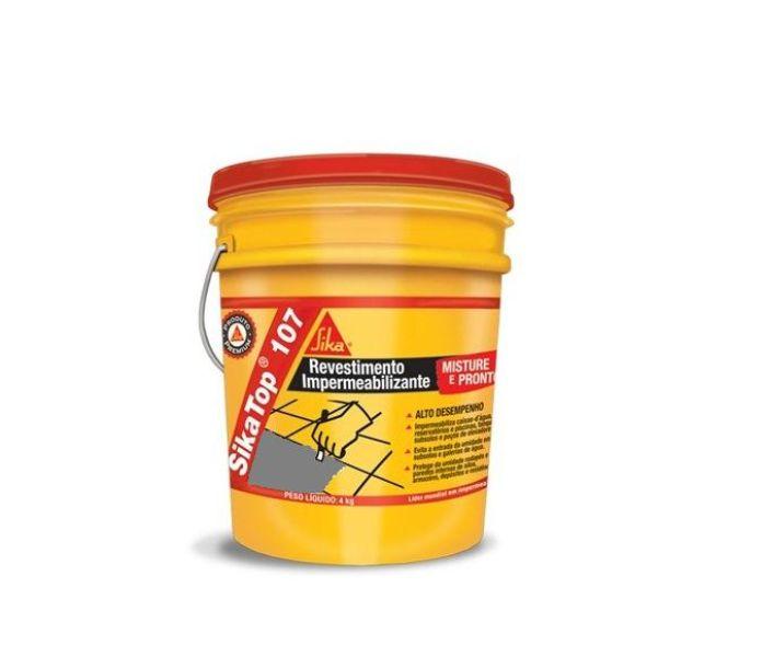 Impermeabilizante sika top 107 para caixa d 39 gua gal o 4kg for Pintura impermeabilizante sika